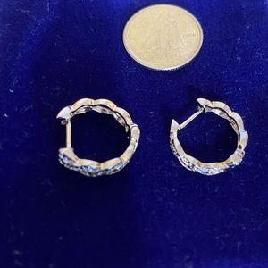 Diamond Swirl Hoop Earrings BRAND NEW